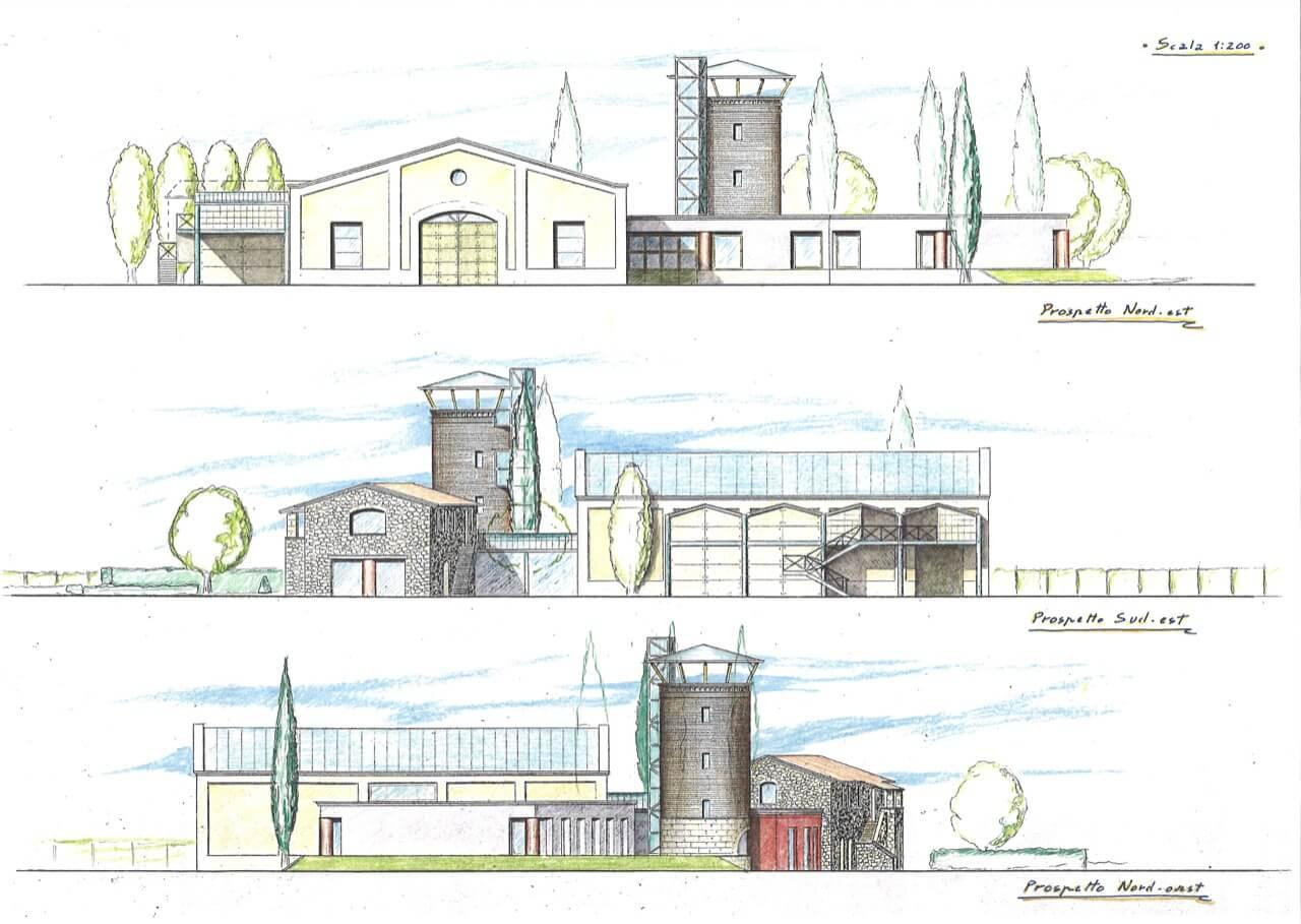 Progetto di cantina studio zaroli - Disegno pianta casa ...