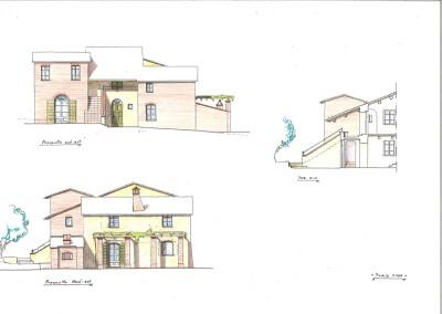 Studio per prospetti ristrutturazione edificio rurale
