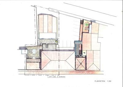 Planimetria ristrutturazione porzione edificato urbano