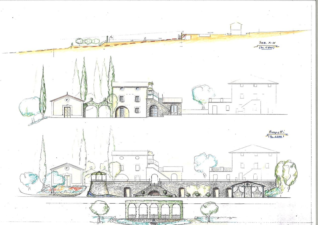 Prospetti di studio per ristrutturazione e ampliamento con for Versare disegni e progetti