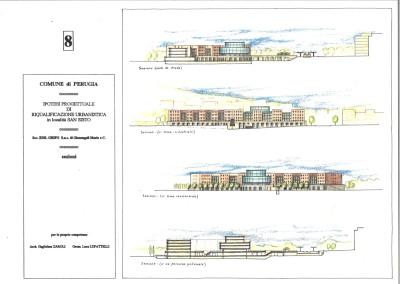 Studio per complesso edilizio urbano (disegno 23 e 24)