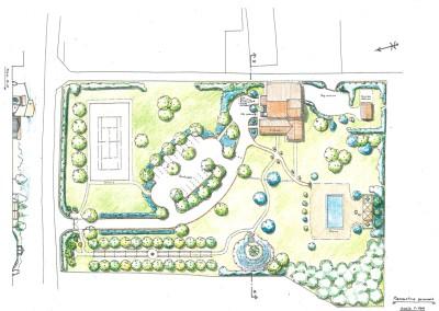 Giardino complesso ricezione turistica con piscina