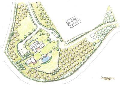 Studio per giardino di villa con piscina
