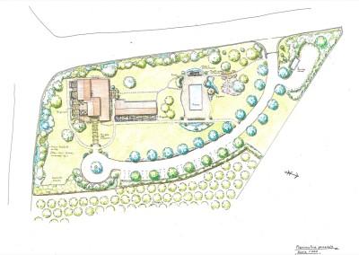 Giardino con piscina complesso per case vacanze