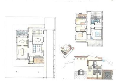 Progetto ristrutturazione palazzina con aggiunte (loggia e torrino)