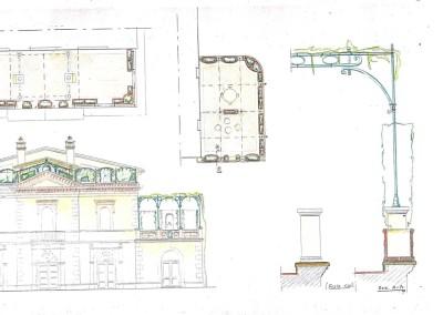 Studio pergola terrazzo su palazzina fine ottocento