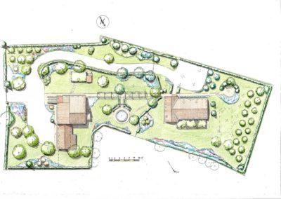 giardino di struttura agrituristica