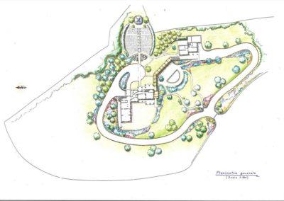 giardino di un complesso agrituristico con piscina