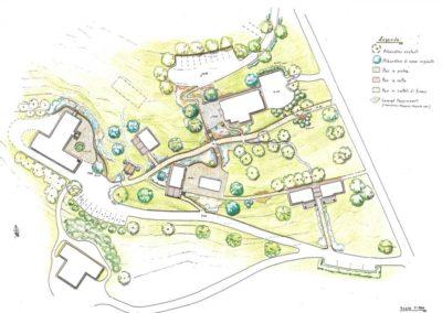 giardino sistemazione viabilità complesso agrituristico