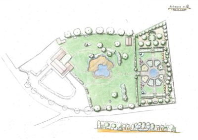 """giardino con piscina e """"giardino segreto"""""""