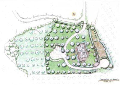 sistemazione viabilità e giardino per villa esistente