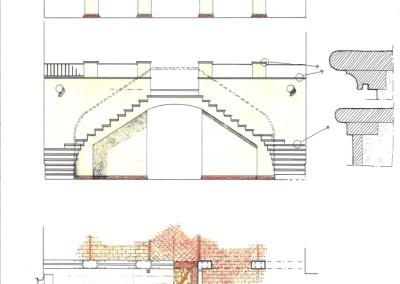 Pianta, prospetti, particolari scala e terrazzo
