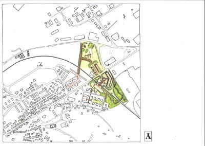Planimetria progetto sistemazione urbanistica