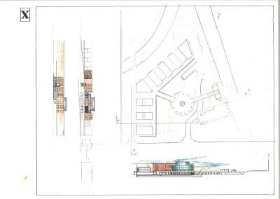 Studio progetto complesso edilizio (planimetria disegno 23)