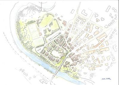 Studio di sistemazione area urbana